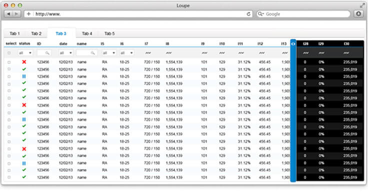 Screenshot image shwoing the two layers table idea design by Hexoo UX/UI design team