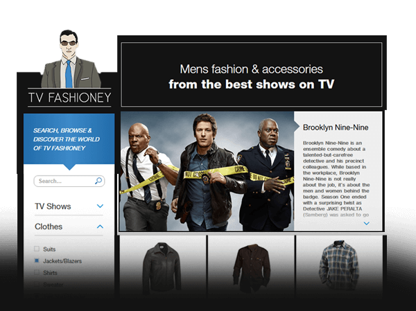 Image of the fashion website TVFashioney design by Hexoo ux/ui design team